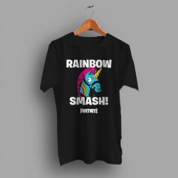 Rainbow Smash Llamas Fortnite Gaming T Shirt
