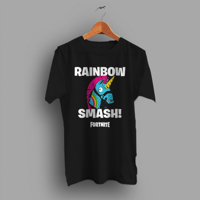 Rainbow Smash Llamas Fortnite Gaming T Shirt