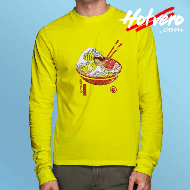 Ramen Great Off Kanagawa Long Sleeve T Shirt