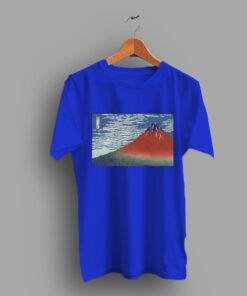 Red Fuji By Katsushika Hokusai 1831 Classic T Shirt