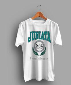 Retro Logo Juniata Pennsylvania University 1992 College T Shirt