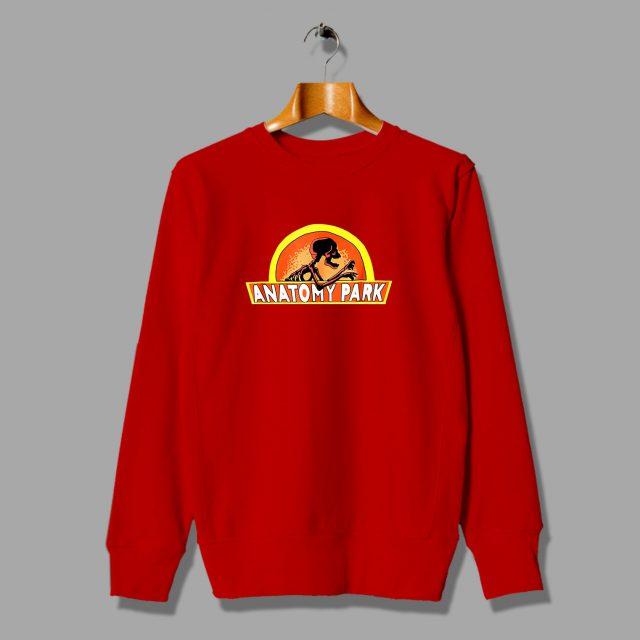 Rick Morty Anatomy Park Skelleton Sweatshirt