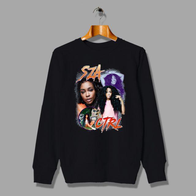 SZA CTRL Rap Girl Vintage Sweatshirt