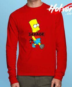 Savage Bart Simpson Long Sleeve T Shirt