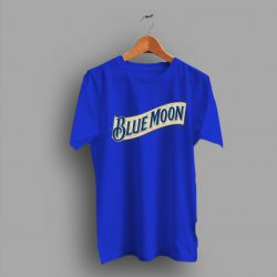 Scratched Blue Moon Beer T Shirt