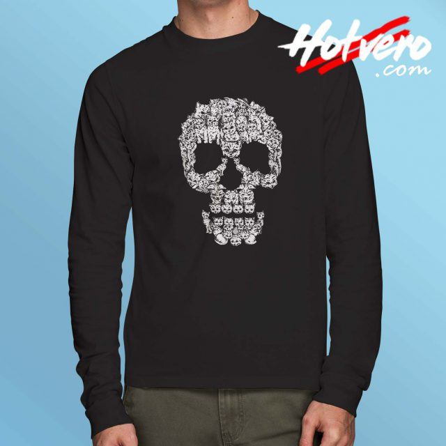 Skull Are Pussies Cat Long Sleeve Shirt