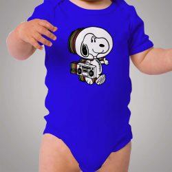 Snoopy Astronaut Boombox Baby Onesie Bodysuit