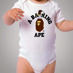 Snoopy Bape Collabs Baby Onesie Bodysuit