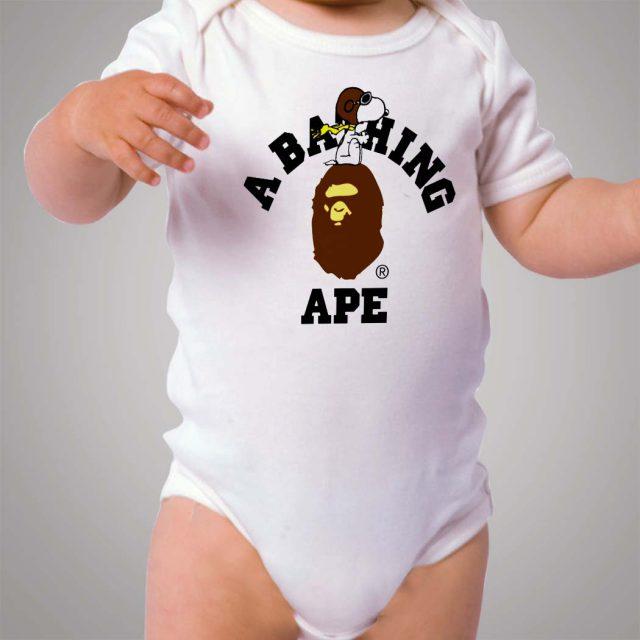 Snoopy Bape Collabs Baby Onesie Bodysuit