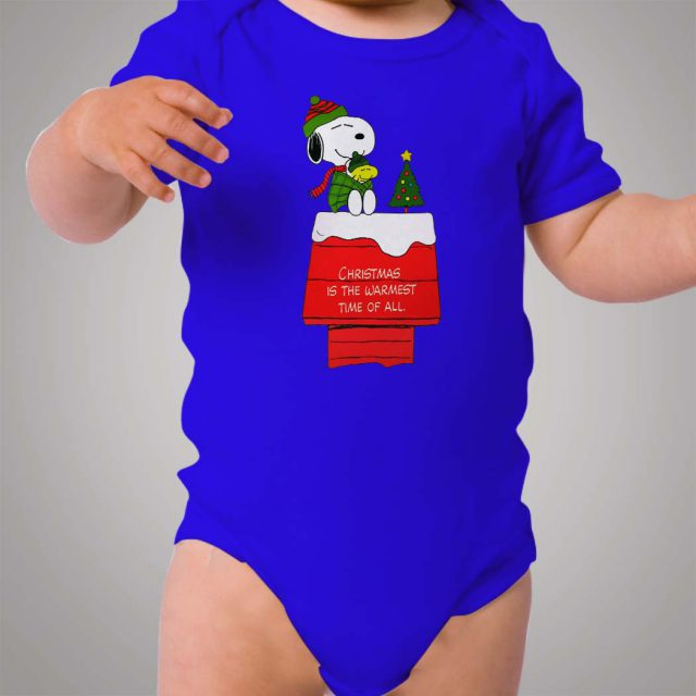Snoopy Christmas Warmest Time Baby Onesie