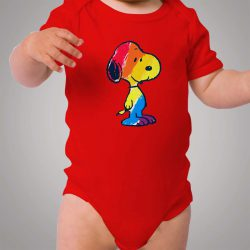 Snoopy Colorful Baby Onesie Bodysuit