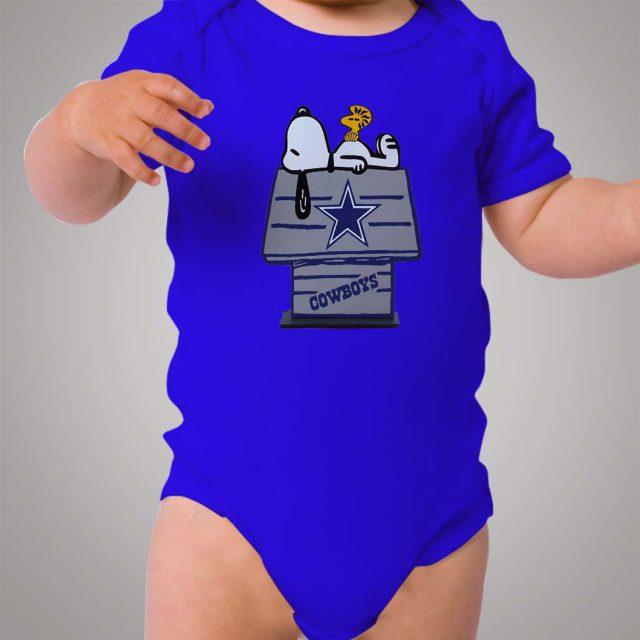 Snoopy Dallas Cowboys Baby Onesie Bodysuit