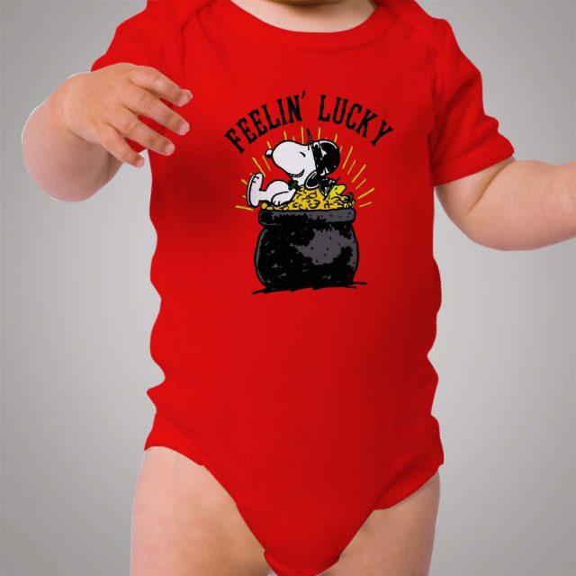 Snoopy Feelin Lucky Baby Onesie Bodysuit