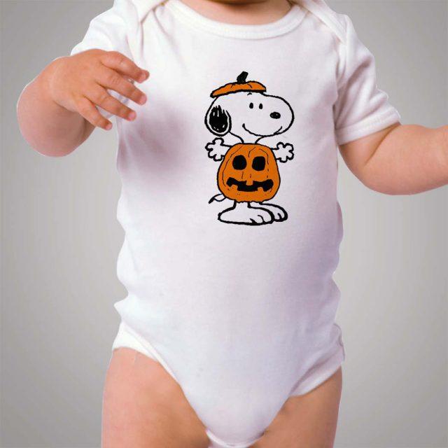 Snoopy Halloween Pumpkin Baby Onesie Bodysuit