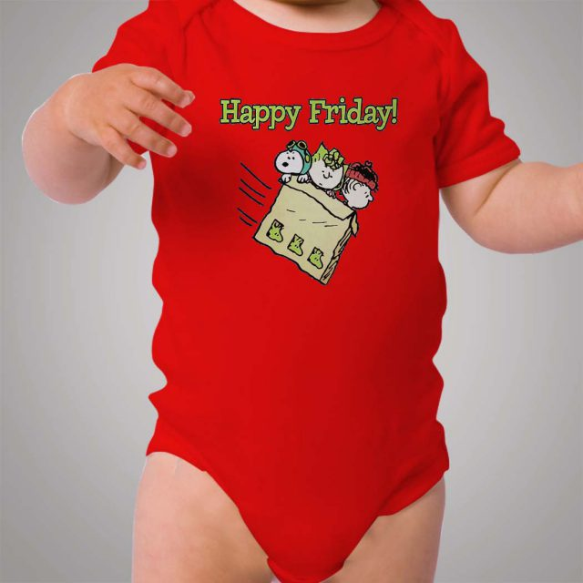 Snoopy Happy Friday Baby Onesie Bodysuit