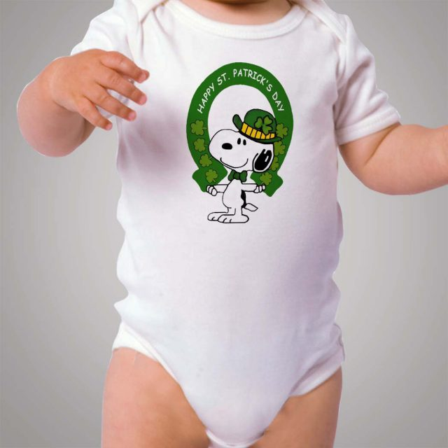 Snoopy Irish St Patrick Day Baby Onesie Bodysuit