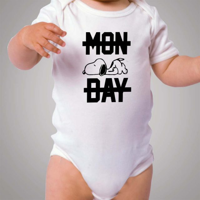 Snoopy Lazy Monday Baby Onesie Bodysuit