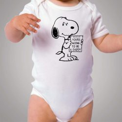 Snoopy Pregnancy Announcement To Be Daddy Baby Onesie