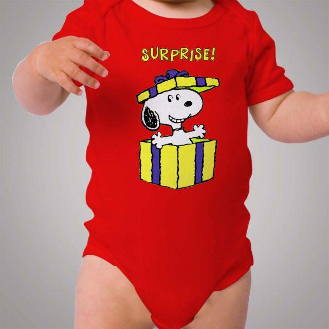 Snoopy Surprise Gift Baby Onesie Bodysuit