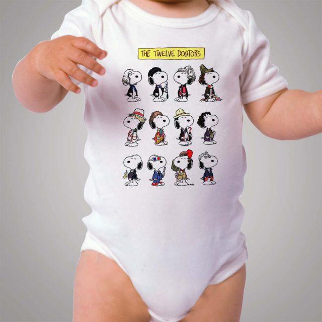 Snoopy Twelve Doctors Baby Onesie Bodysuit