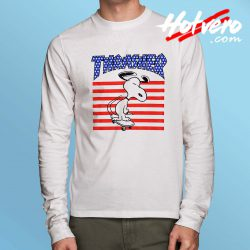 Snoopy USA Skateboard Collabs Long Sleeve T Shirt