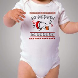 Snoopy Ugly Christmas Baby Onesie Bodysuit