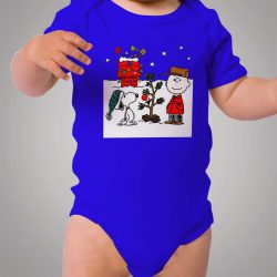 Snoopy and Charlie Brown Christmas Baby Onesie