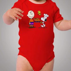 Snoopy and Charlie Brown Thanks Giving Baby Onesie Bodysuit