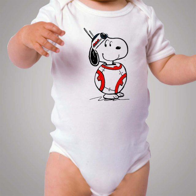 Snoopy BB8 Star Wars Parody Baby Onesie Bodysuit