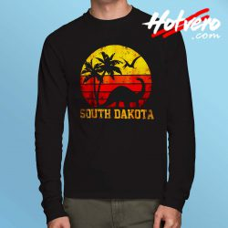South Dakota Dinosaur Beach Long Sleeve T Shirt