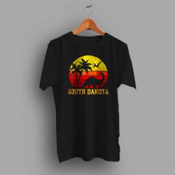 South Dakota Dinosaur Beach Summer T Shirt