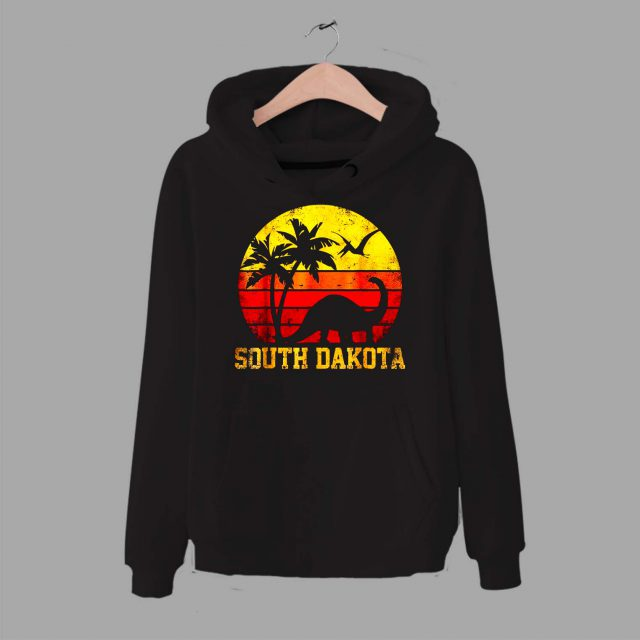 South Dakota Dinosaur Beach Unisex Hoodie