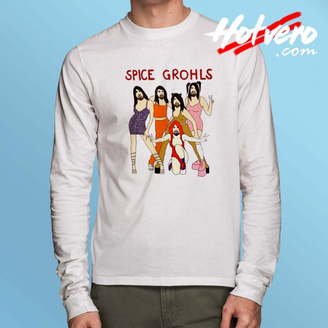 Spice Dave Grohls Parody Long Sleeve T Shirt