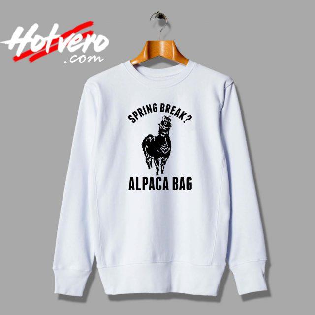Spring Break Alpaca Bag Unisex Sweatshirt