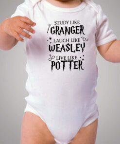 Study Like Granger Live Like Harry Potter Baby Onesie Bodysuit