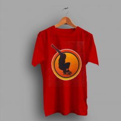Sunset Skater Emblazoned Classic 70s T Shirt