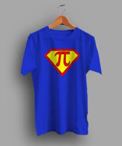 Superhero Captain Pi Symbol Geek T Shirt
