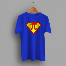 Superhero Captain Pi Symbol Geek T Shirt