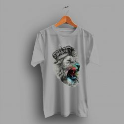 Symbolic Meaning Lion Queens Print Colors T Shirt