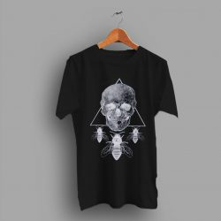 Taxidermy Steampunk Skull Womens T Shirt