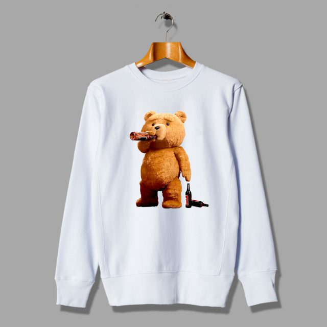 Ted Teddy Bong Stoner Pot Pothead Unisex Sweatshirt