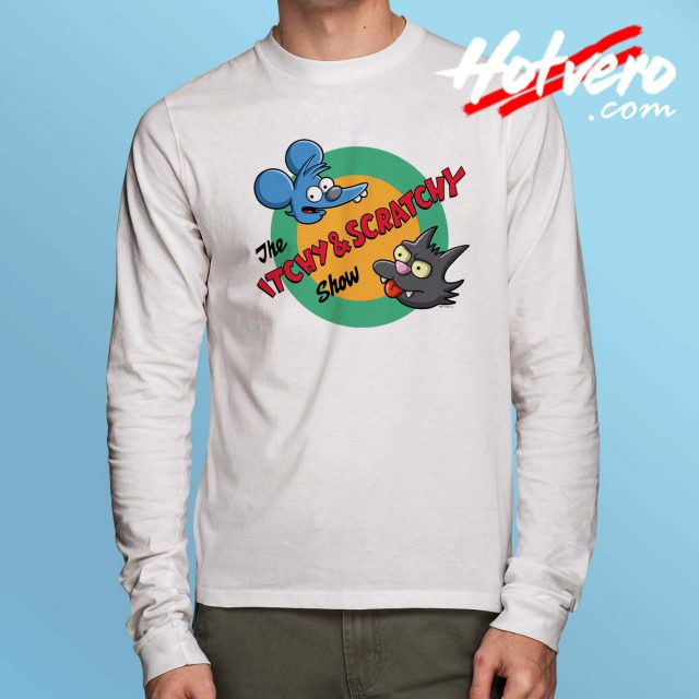 The Itchy And Scratchy Show Long Sleeve Shirt