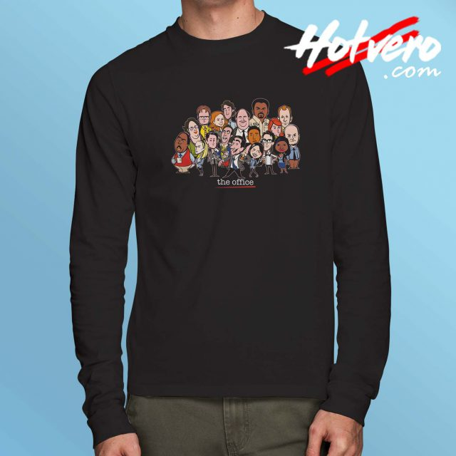 The Office Cast All Character Long Sleeve Shirt
