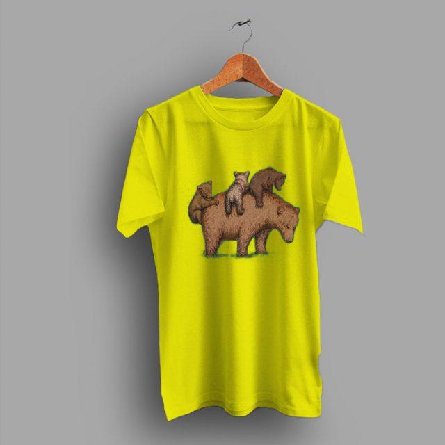 Three Little Bears Funny Family T Shirt