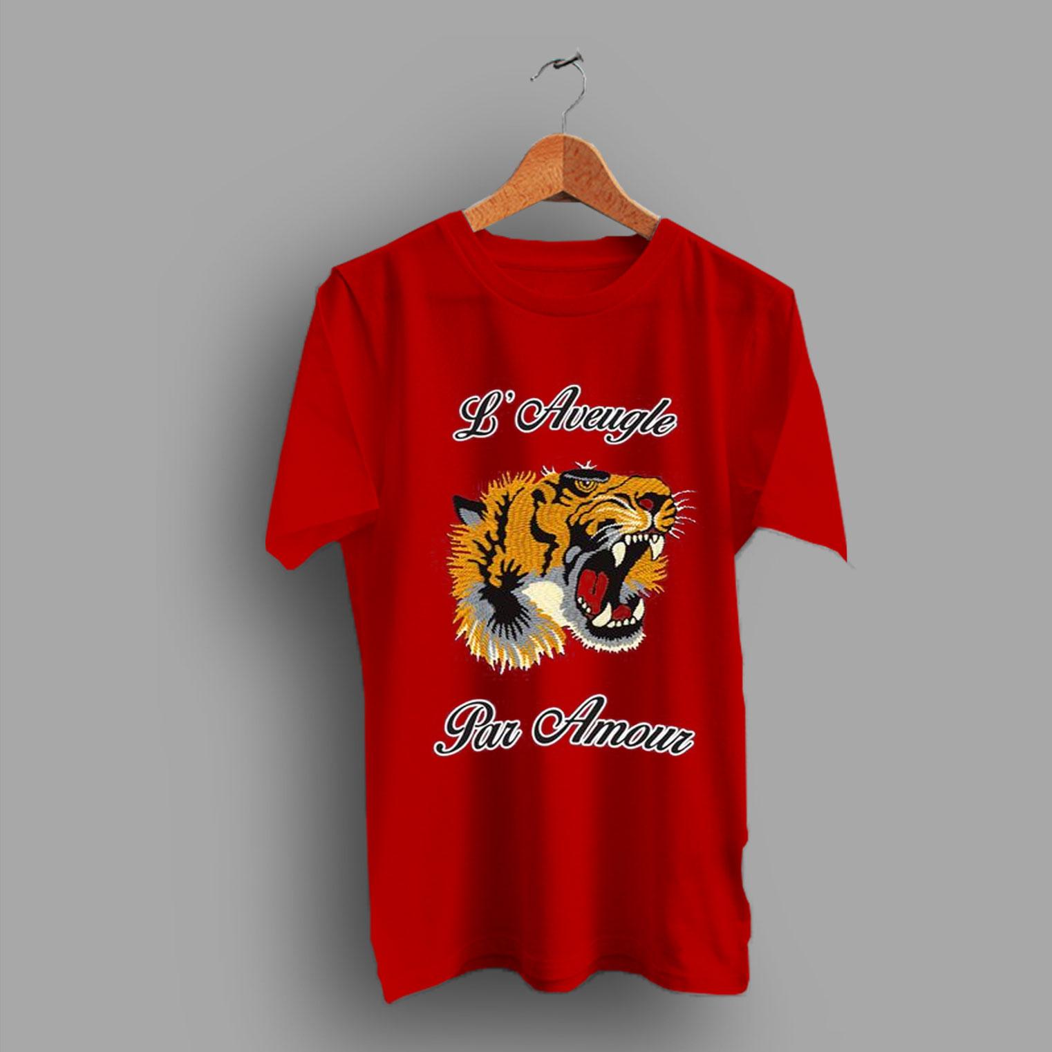 8aa9d32b Tiger Head Gucci Roaring T Shirt - HotVero.com