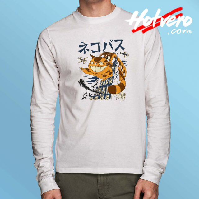 Tonari No Totoro Cat Bus Long Sleeve T Shirt