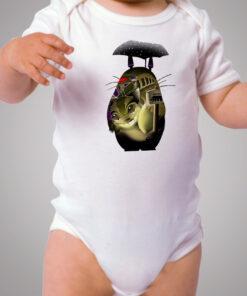 Tonari No Totoro Catbus Sillhoutte Baby Onesie