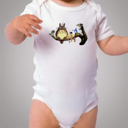 Tonari No Totoro Holiday Party Baby Onesie