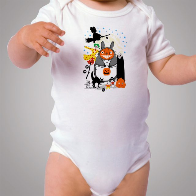 Totoro And No Face Mask Halloween Party Baby Onesie