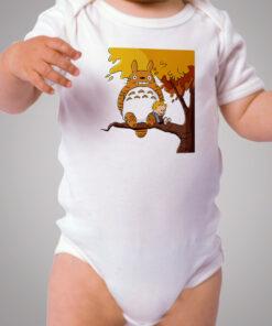 Totoro Calvin Hobbes Inspired Baby Onesie